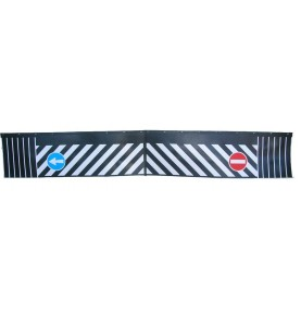 Bavette noire flèche sens interdit (deux parties)