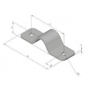Support de tringle pour tube 13mm