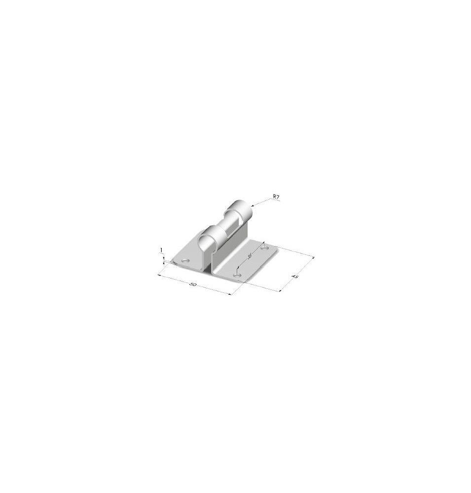 Support de tringle pour tube 13 mm 4 fixations