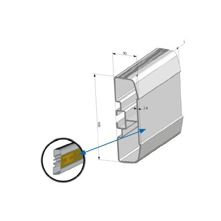 Profil antidérapant alu anodisé 3 500 mm