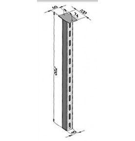 Poteau fixe pour profil pare-cycliste hauteur 720 mm acier zingué