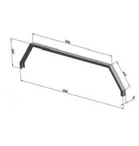 Support transversal sous châssis pour barre simple 2360 x 485 mm
