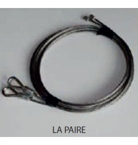Câbles inox x 2