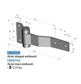 Habillage inox bas de calandre DAF 105