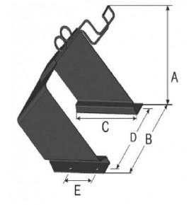 Support de cales de roues en tôle noir 600 mm