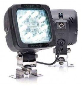 Phare de travail carré 9 LED avec interrupteur