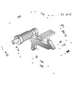Tri-flash relevage électrique sur barre 500 mm