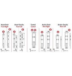 Profil antidérapant alu brut 5 000 mm