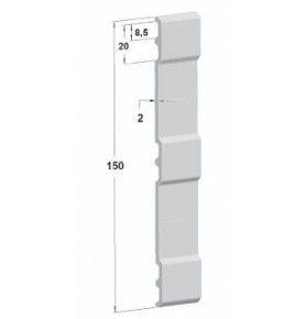 plinthe h150mm brut lg 5000