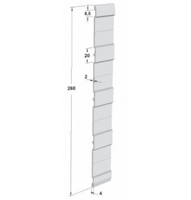 plinthe h260mm brut lg 5000
