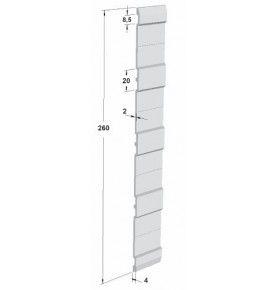 Profil acier galvanisé 7 000 mm