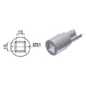 Kit d'embouts simple barre avec profil d'angle Alu pour profil Galva