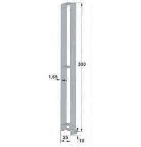 Profils d'angle en Alu anodisé 100 mm