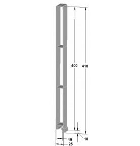 Profils d'angle en Alu anodisé 500 mm