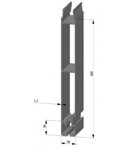 Profil d'angle plastique simple barre 100 mm