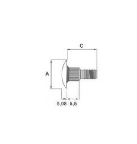Tige TORKTAINER noire L.19,05 x Diam.23,1 mm
