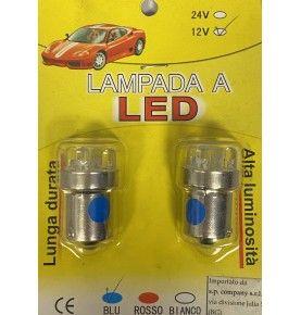 Ampoule 12V 4 LED BA15S bleues
