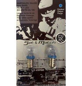 Ampoule 24V 1 LED BA9S bleue