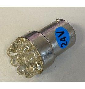 Ampoule 24V 9 LED BA15S bleue