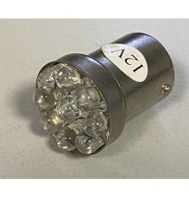 Ampoule 12V 9 LED BA15S blanche