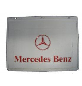 Bavette blanche marquage MERCEDES rouge 400 x 300 mm