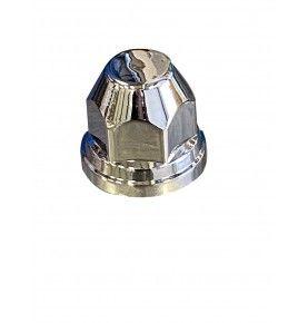 Cache écrou plastique chromé conique Ø 32 mm