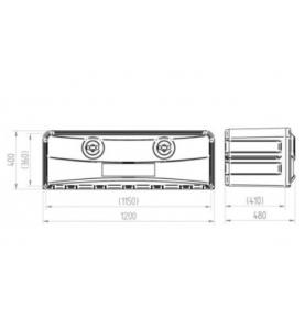 Coffre à outils plastique MAXI 1200