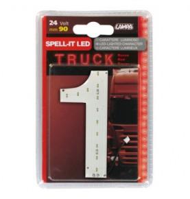 Chiffre rouge LED