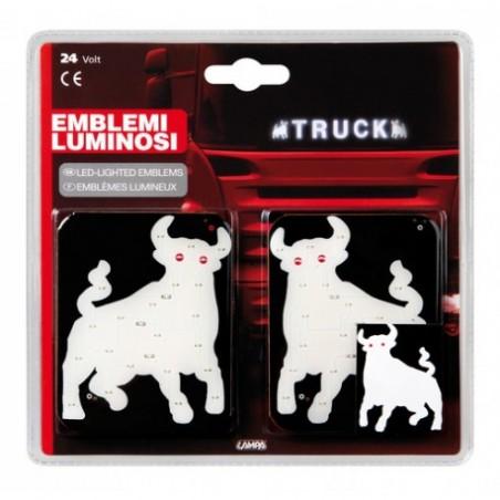 Symbole lumineux LED taureau